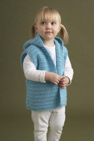 Kids Hoodie Vest Pattern- free crochet patterns