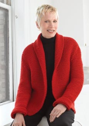Knitting Pattern Chunky Wool Cardigan : Chunky Knit Sweater Pattern- free beginner knit patterns