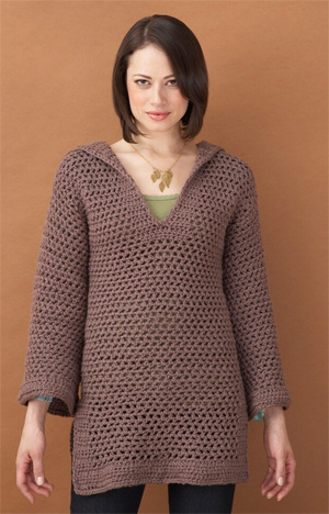 Free Crochet Tunic Pattern For Beginners : Crochet Tunic Sweater Pattern- free crochet patterns
