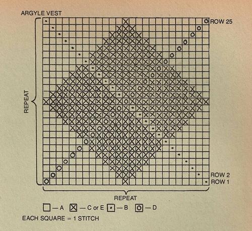 Knit Argyle Vest Pattern