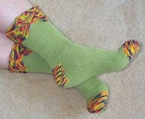 Funky But Easy Sock Pattern