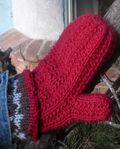 Double Knit Mittens Free Pattern : Knit & Crochet Super Warm Lined Mittens Patterns Knitting Blog