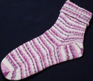 Two Needle Toe Up Socks