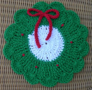 Bernat: Pattern Detail - Handicrafter Cotton - Lacy Dishcloth