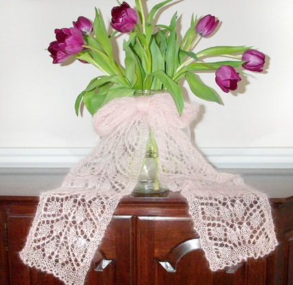 Beginners Leaf Lace Scarf Pattern Knitting Blog