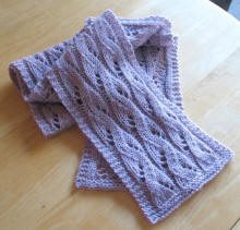 Waterfall lace scarf pattern
