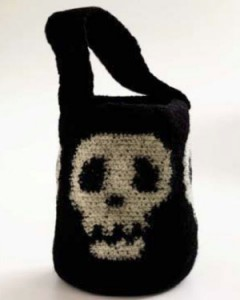 crochet halloween candy bag