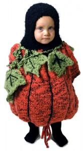 knit toddler pumpkin costume