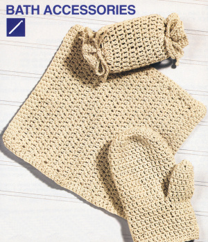Crocheting Accessories : crochet bath accessories pattern