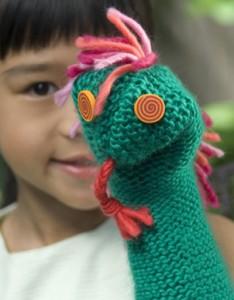 knit hand puppet