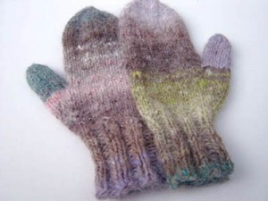 beginner knit mittens pattern