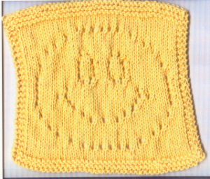 knit facecloth pattern