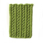Knit lace rib stitch