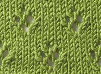 Free Knitting Lace Stitch Library : Knitting Stitch Library - Simple Eyelet Diamonds